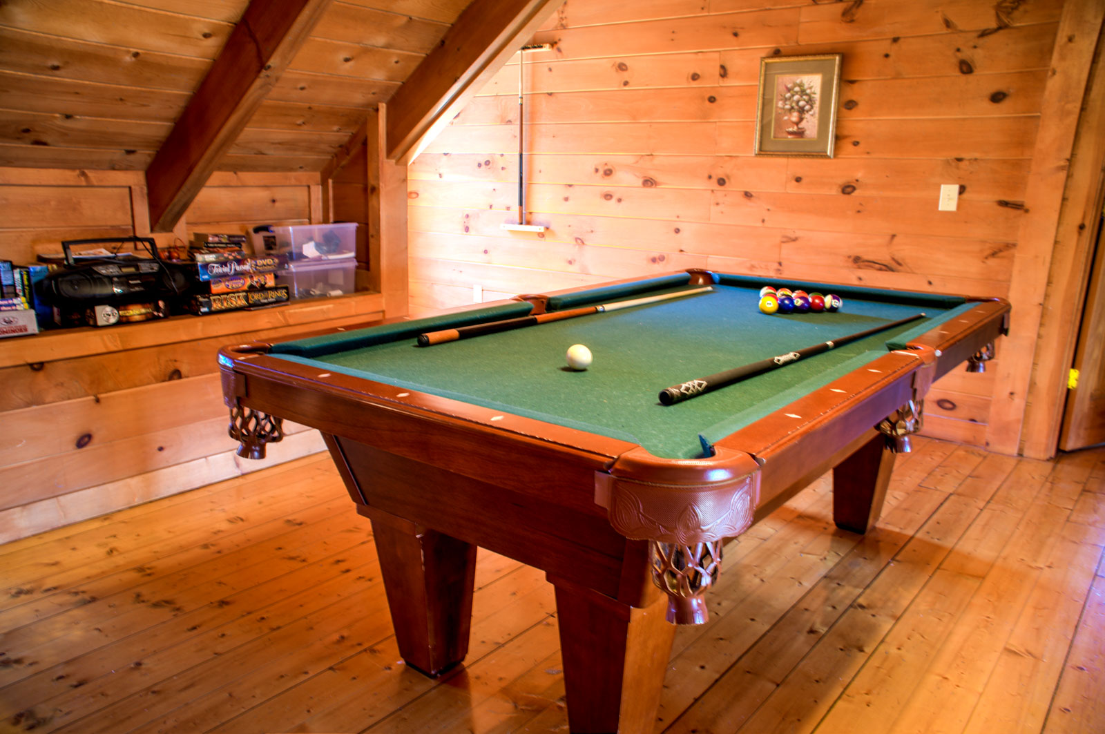 Pool Table Loft Area